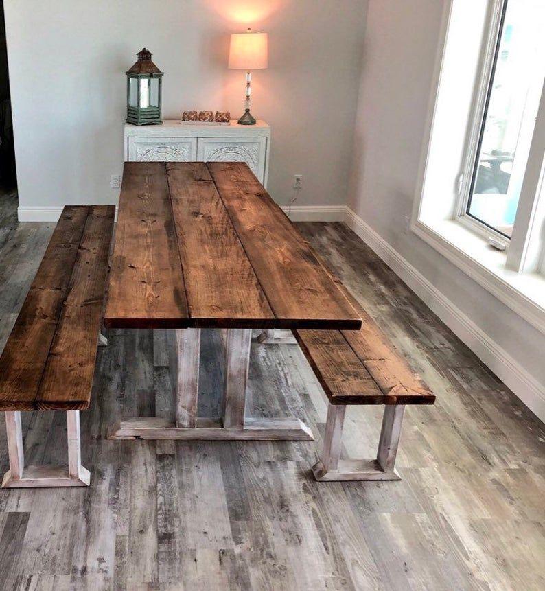 DIY Farmhouse Table Leg Set, Antique Distressed White