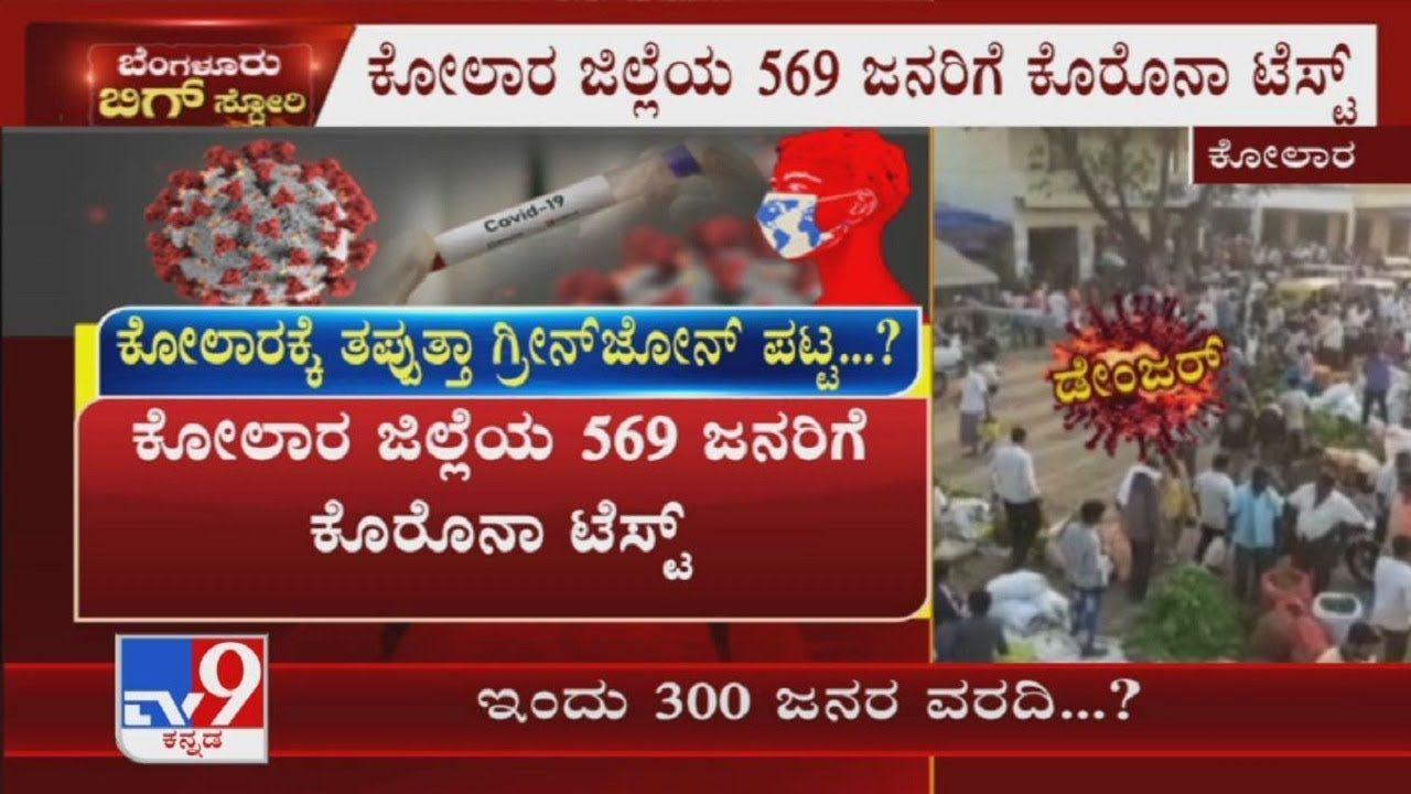 Test For 569 People In Kolar District Due To Some People