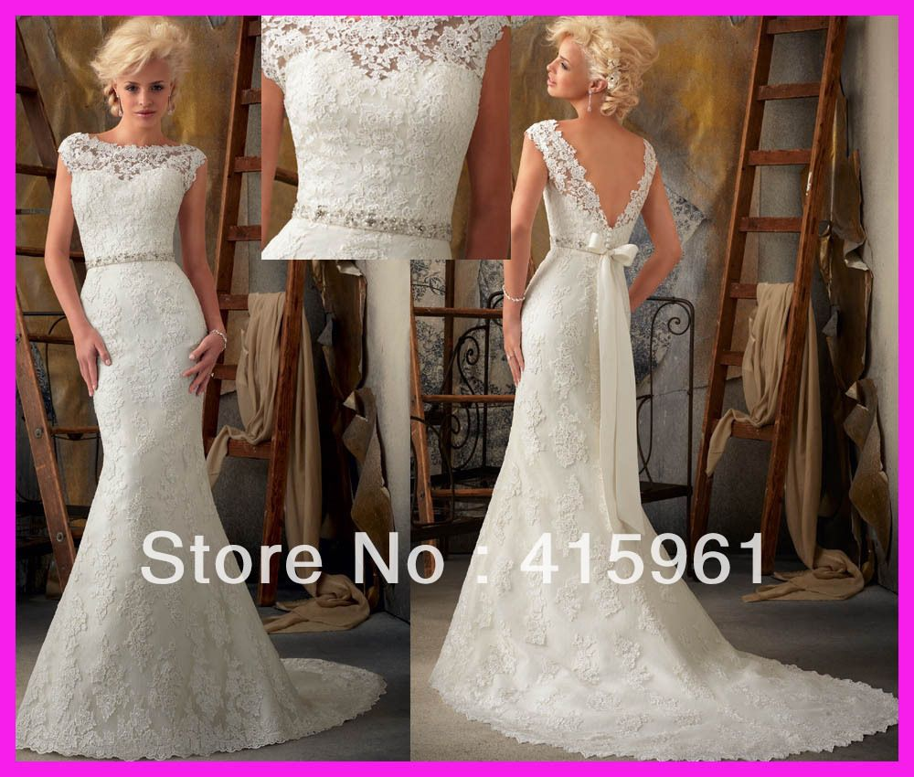 Wedding Dress With Low Back And Buttons