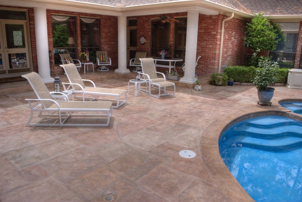 Beautify Your Concrete With Carvestone Cool Deck Outdoor Solutions Backyard