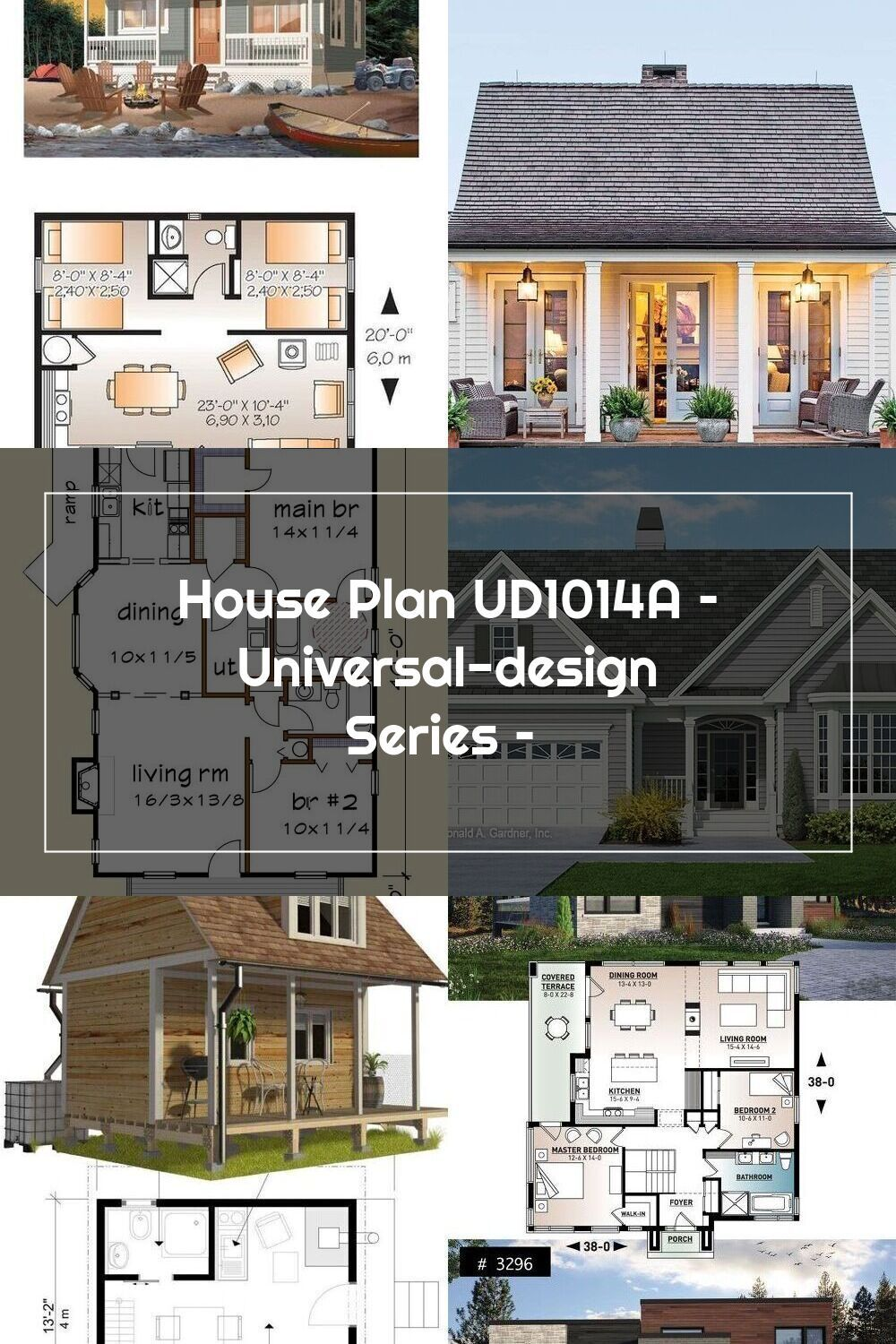 House Plan Ud1014a Universal Design Series In 2020 House Plans Universal Design Small House Plans