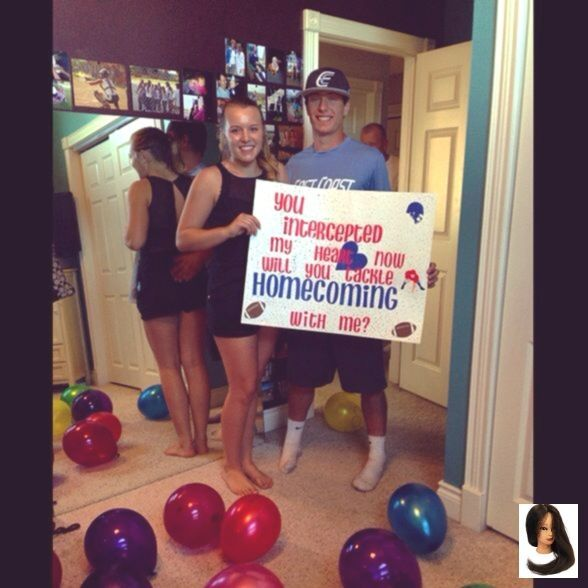 #heart #Hoco Proposals Ideas for boys #homecoming #intercepted #tackle