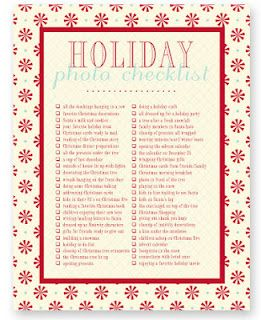 a list of photos to take for all seasons, holidays, etc.