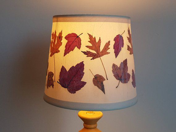 Pressed Flower Artwork Lampshade Made With Real Dried Flowers Drum Shape Lamp Shade Flo