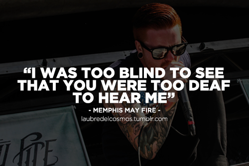Memphis May Fire Lyric quotes, Memphis may fire