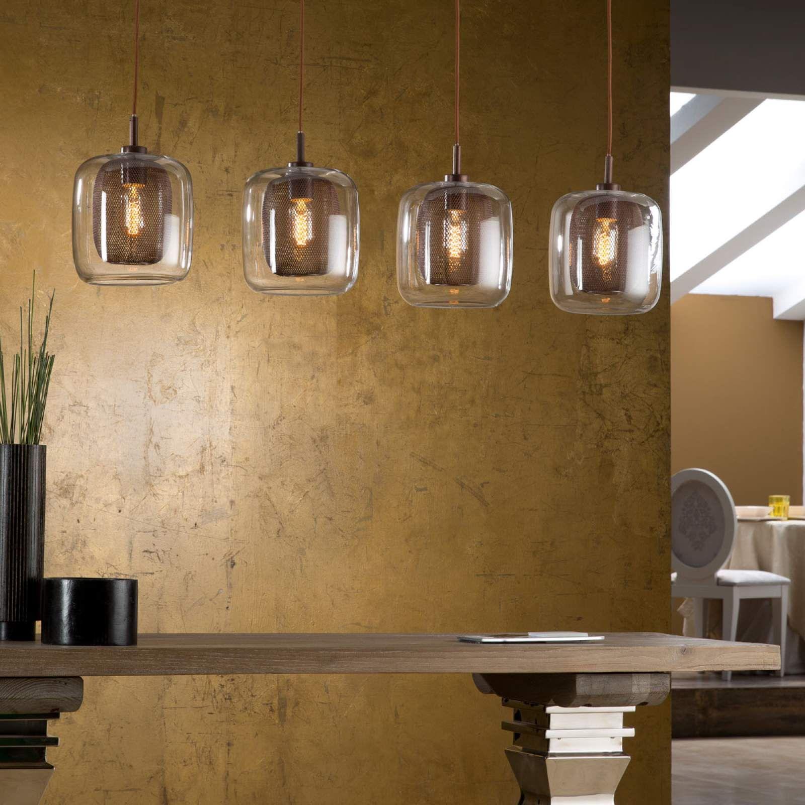4 Flammige Hangeleuchte Fox Mit Doppelschirmen Lampen Lampen Und Leuchten Und Leuchten