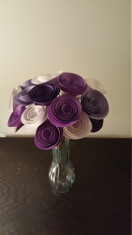 Purple Paper Flower Arrangement Purple Paper Flowers Purple