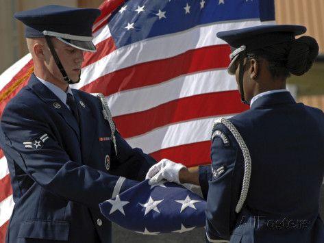 Honor Guard Members Fold The American Flag During A 9 11 Memorial Photographic Print Stocktrek Images Allposters Com American Flag American Flag Art Honor Guard