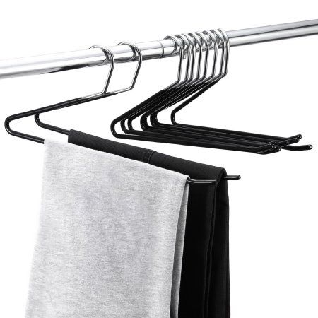 royalhanger 20 packs open ended pant hanger jeans trouser easy slide organizer metal hangers image 2