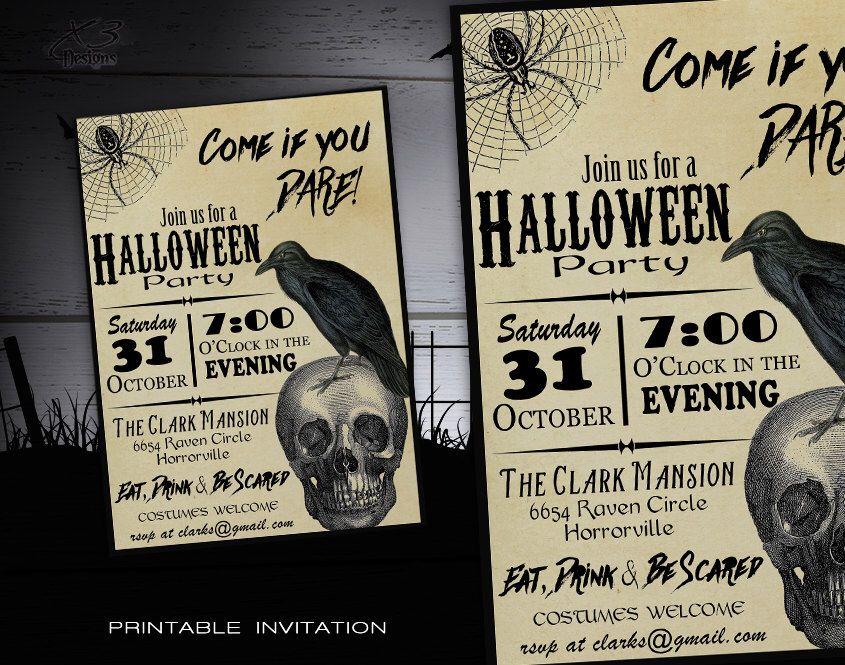 Halloween Invitation Printable - Adult Costume Party Halloween ...