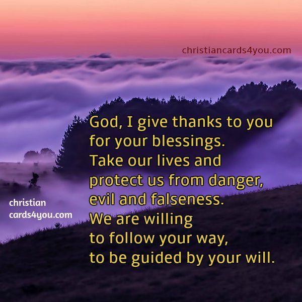 thank you God, free short prayer   Beauty   Short prayers