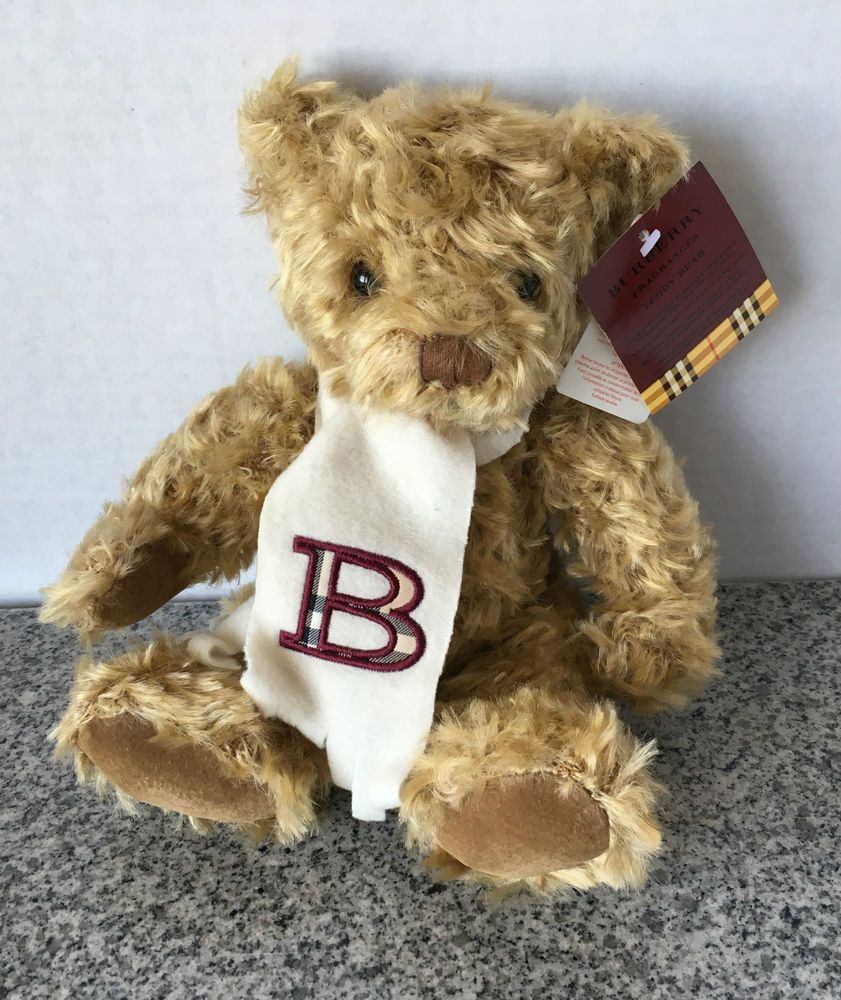 "Burberry Fragrances Brown Teddy Bear Plush Nova Check Scarf New NWT Stuffed 9"" #Burberry #ebay"