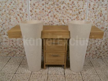Badezimmermöbel Stehend ~ Doppelwaschtisch stehend teakholz badmöbel teak badmoebel