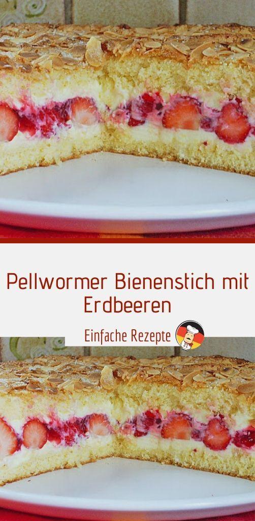 Pellwormer Bienenstich mit Erdbeeren – Einfache Rezepte