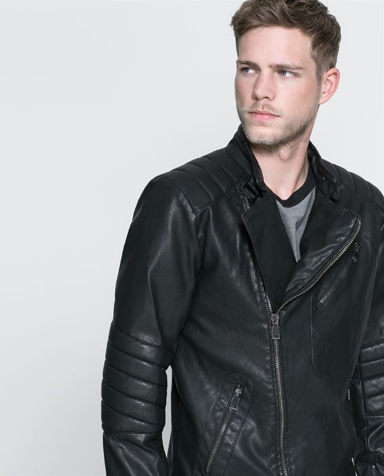 Image 1 Of Faux Leather Biker Jacket From Zara My Style Leather