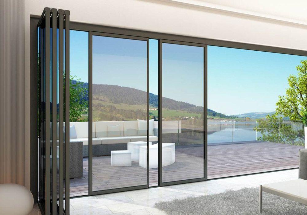 External Slide And Turn Doors Create Complete Openings Idsystems Sliding Glass Doors Patio Bifold Doors Doors