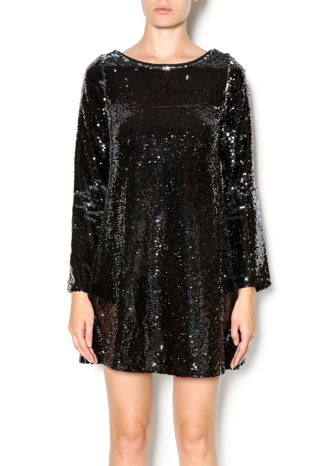 Double zero long sleeve sequin dress zero clothing sequins and