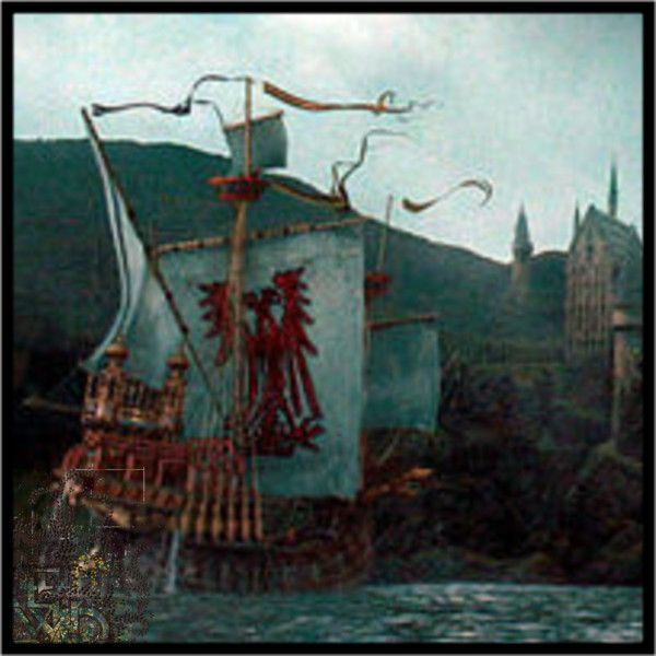 The Durmstrang Boat Beautiful Night Sky Harry Potter Ships Painting Durmstrang institute was founded by nerida vulchanova of bulgaria, a powerful witch, but whose death was mysterious. harry potter ships