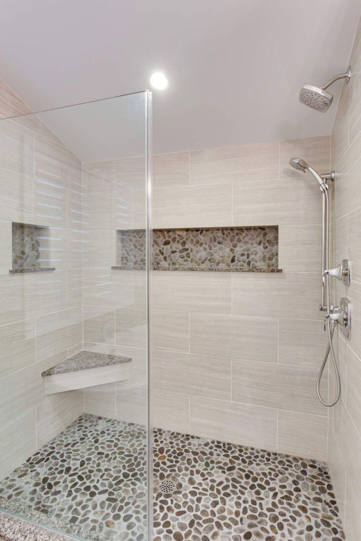 20+ Stunning Pebble Tile Bathroom Ideas #bathroomtileshowers