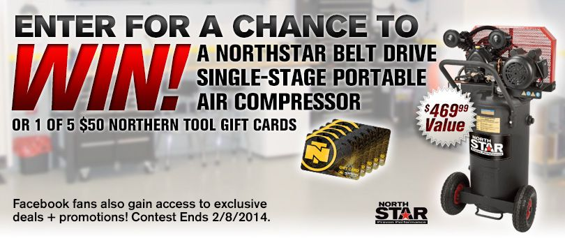 Check out this from NorthStar Air Compressor Giveaway! #Win either ...