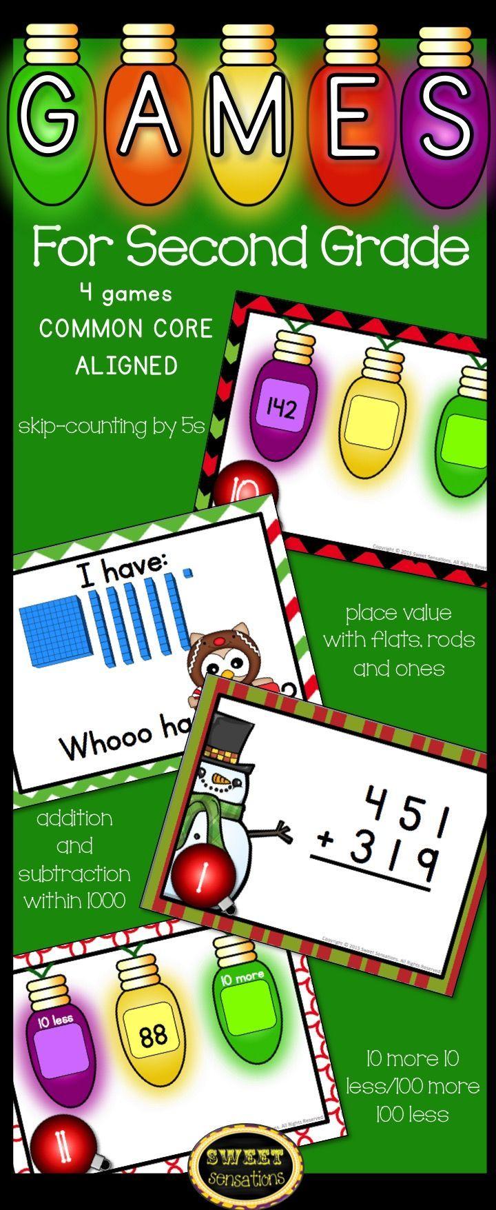 Christmas Math Games for 2nd Grade Christmas math games