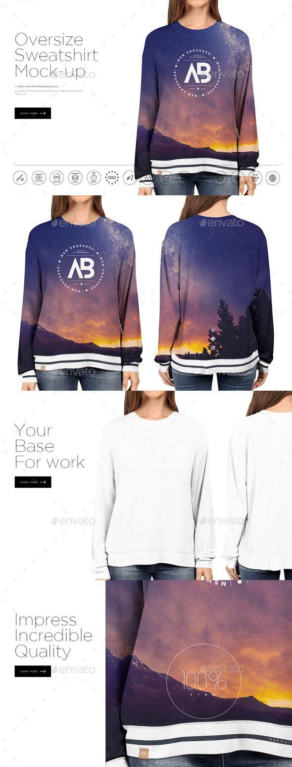 Download Oversize Sweatshirt Mock Up Clothing Mockup Oversized Sweatshirt Hoodie Mockup Free