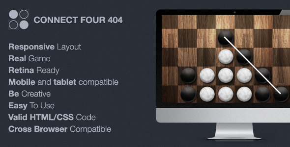 Connect Four 404 / Maintenance | Template and Fonts