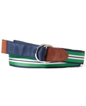 1095730f Polo Ralph Lauren Men's Reversible Grosgrain Belt - Navy/Bright ...