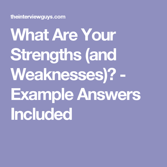 writing strengths and weaknesses