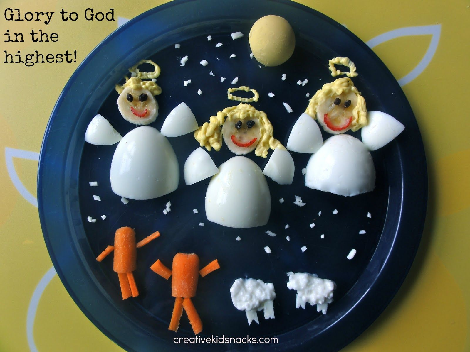 this healthy and fun little snack celebrates the birth of jesus as