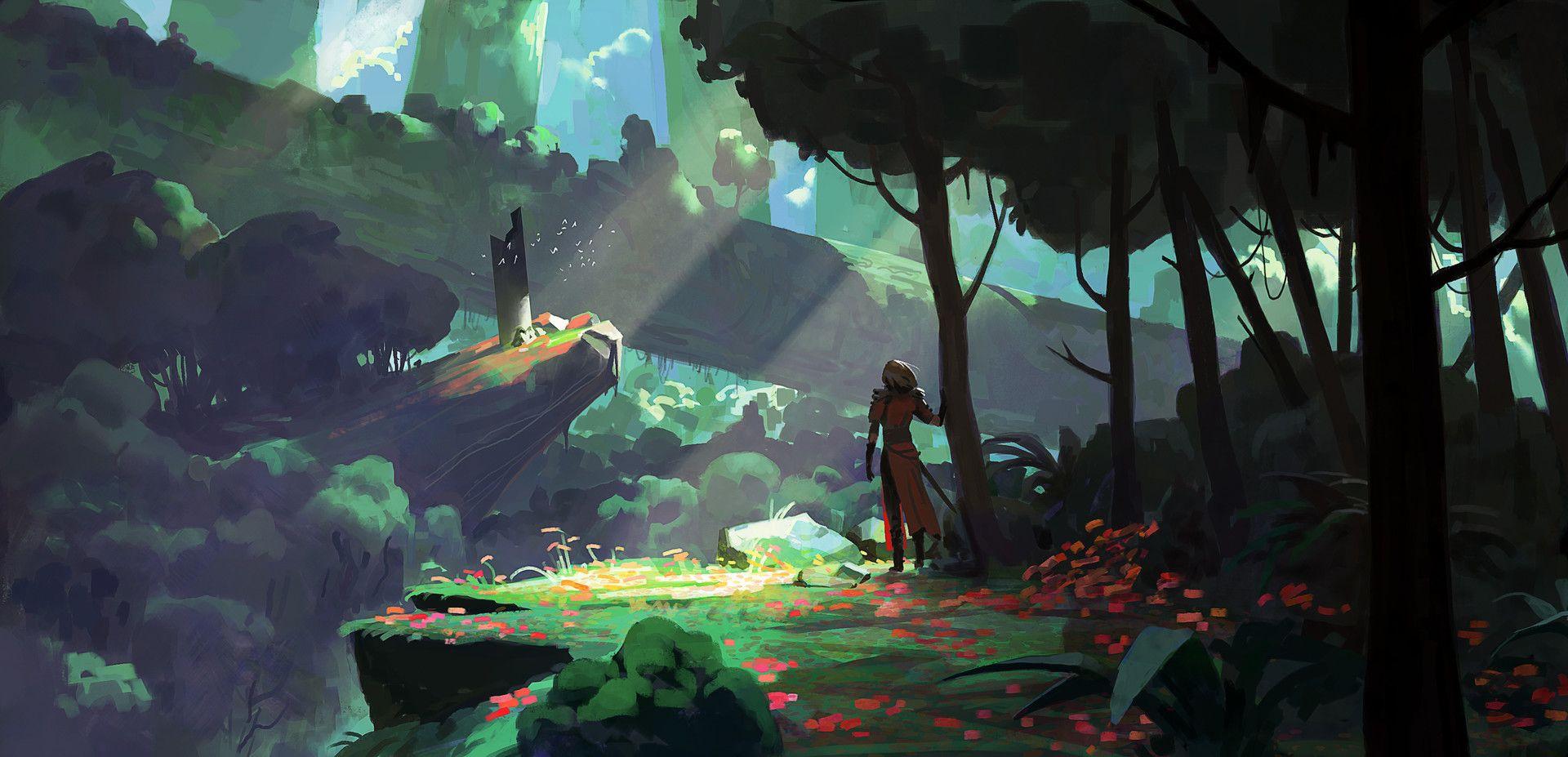 Artstation Absolver Environment Concept Art Michel Donze Environment Concept Art Game Art Environment Concept Art