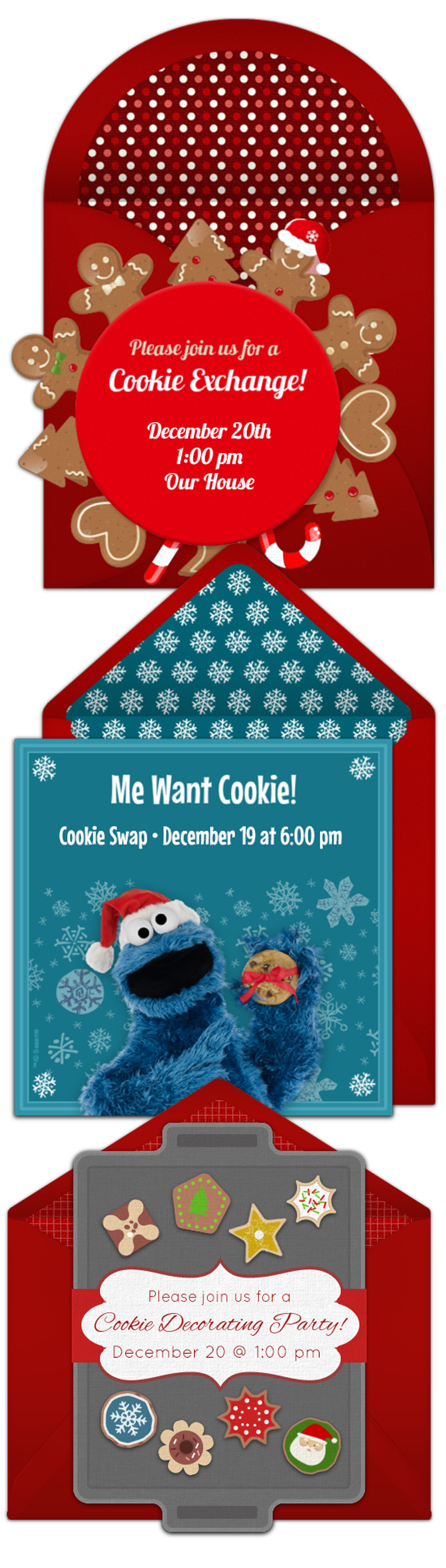 Online Invitations from | Christmas cookie exchange, Christmas ...