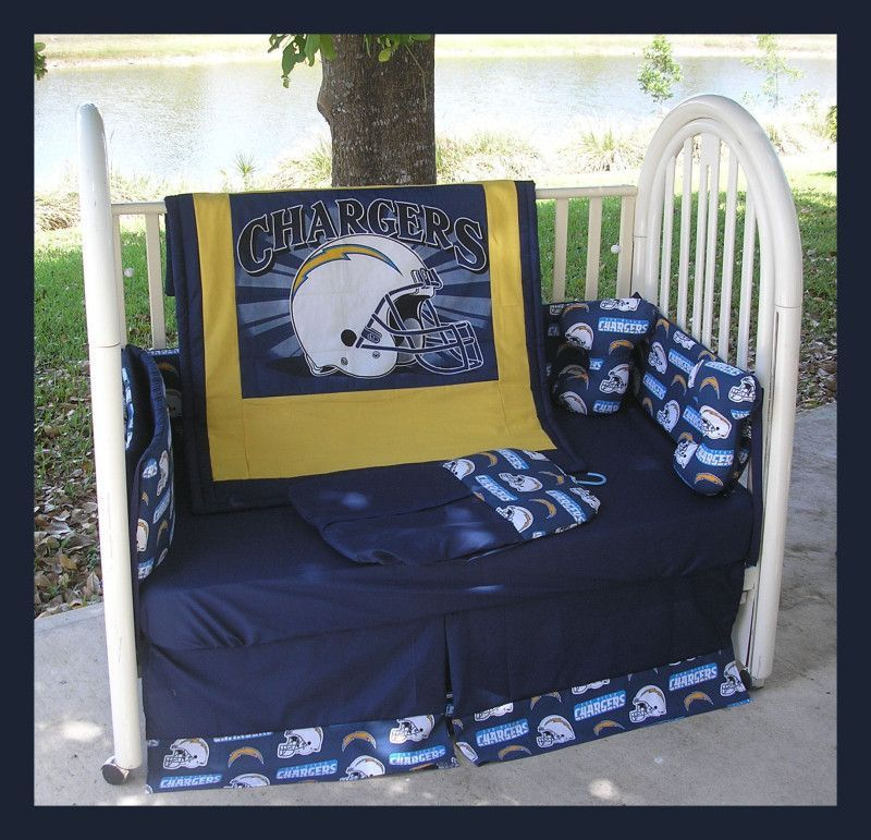 San Diego Chargers Gifts: NEW Baby Crib Bedding Set Made W/ SAN DIEGO CHARGERS
