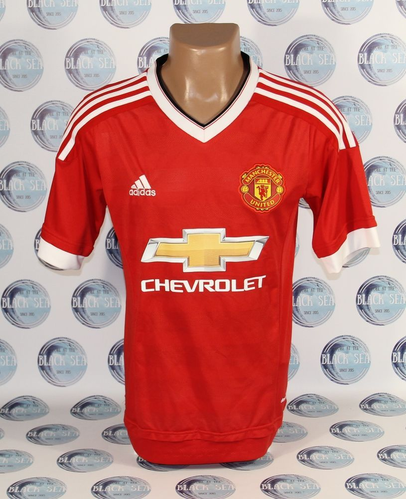 manchester united 2015 2016 home football soccer shirt jersey camiseta maglia s adidas manchesterunited manchester united manchester shirts pinterest