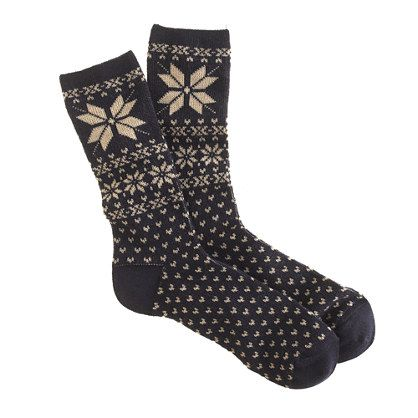 Snowflake Fair Isle trouser socks | spinach & other cool things ...