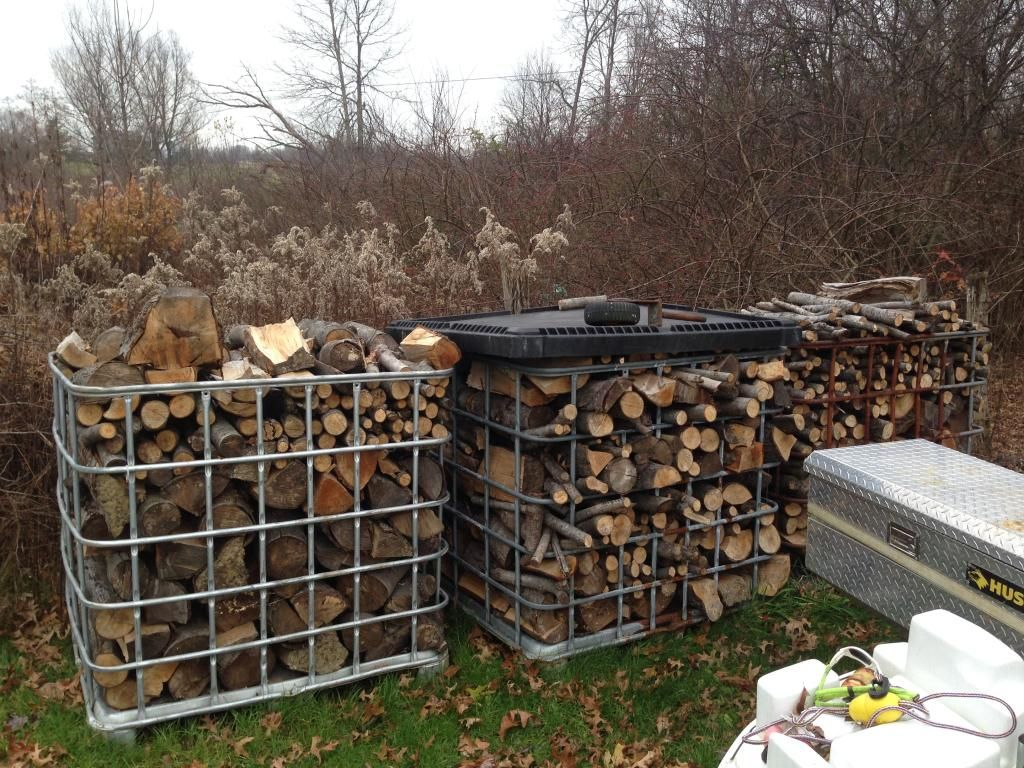 Ibc Tank Cage Log Google Search Firewood Outdoor Garden Firewood Shed