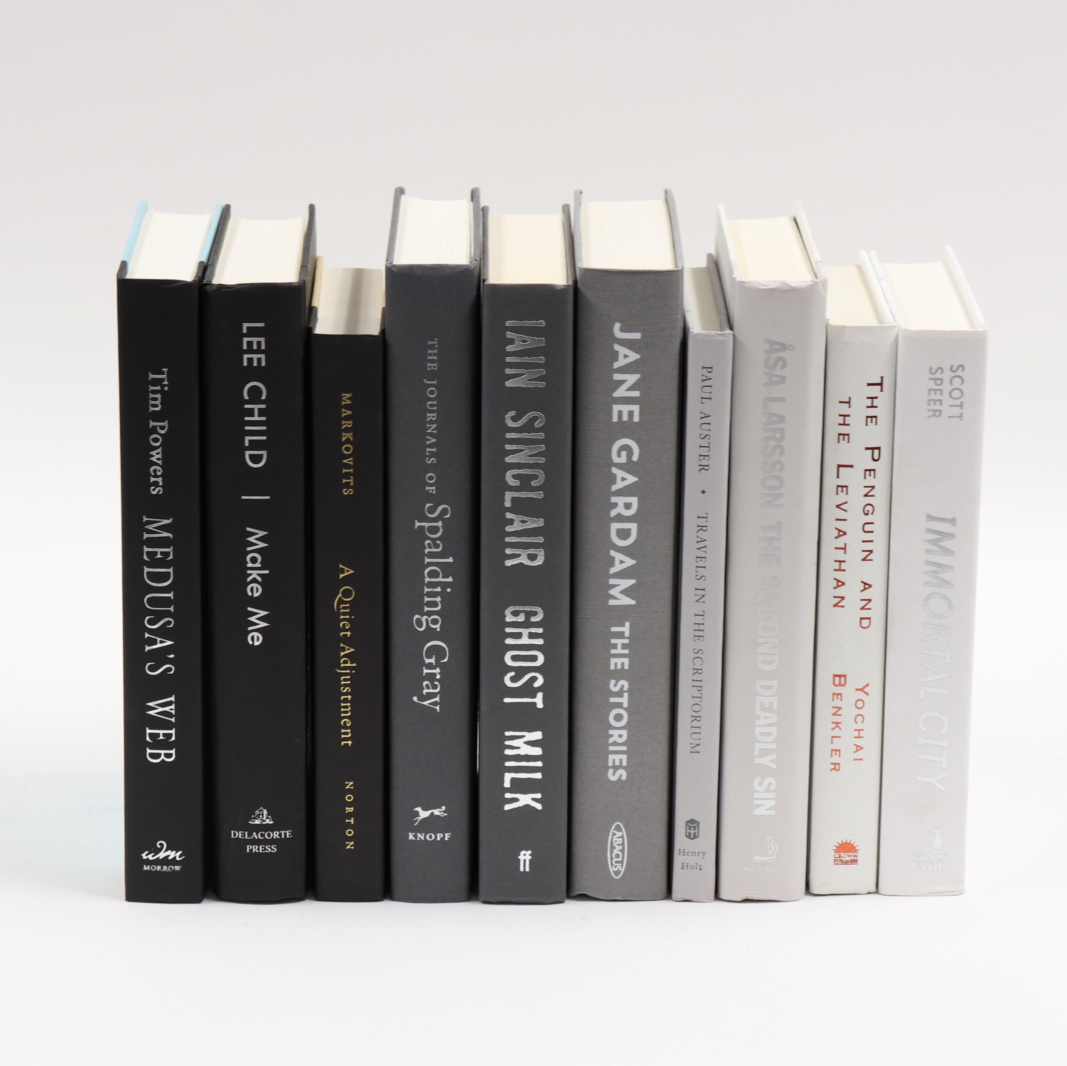 Black To White Ombre Decorative Book Bundle Black And White Books Book Decor Book Bundles