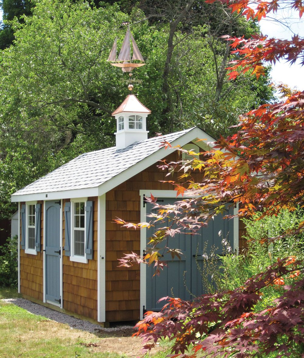 Best Cedar Shake Siding Really Changes The Look Of This Kloter Farms Garden Cape Shed Cedar 400 x 300