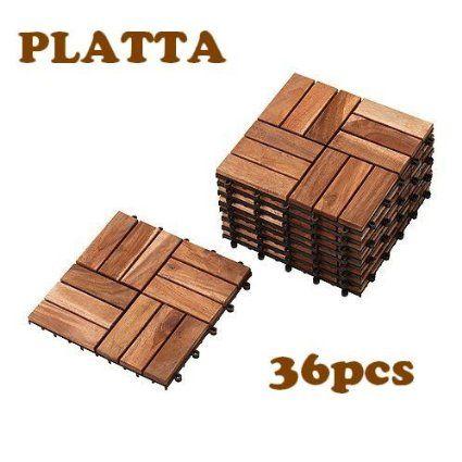 IKEA PLATTA 36枚セット フロアデッキ タイル  連結可能