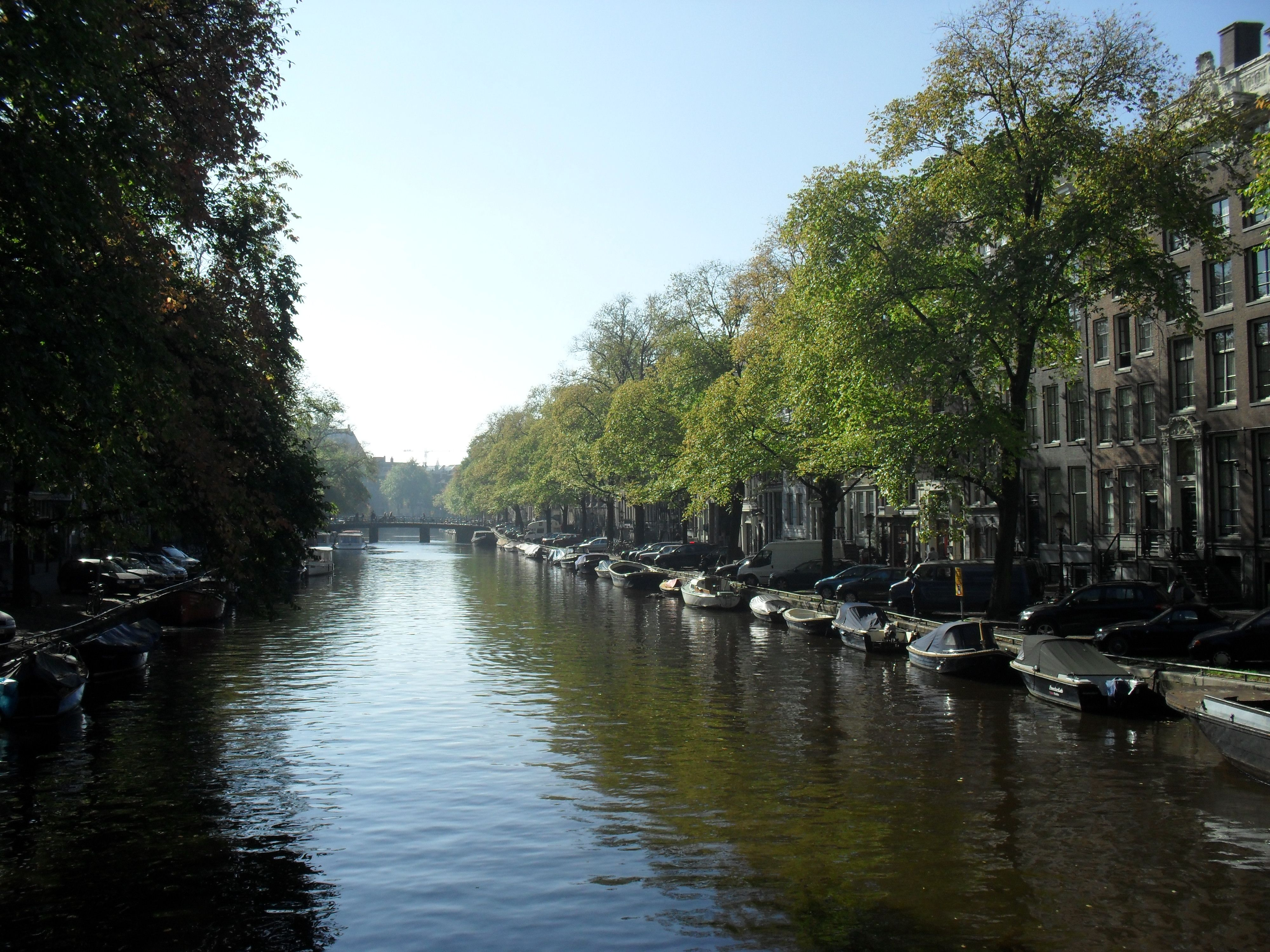 Amsterdam, Holland - we hired a little pedal bike and chugged around the canals in the sunshine. So much fun! Made me feel like a kid again.