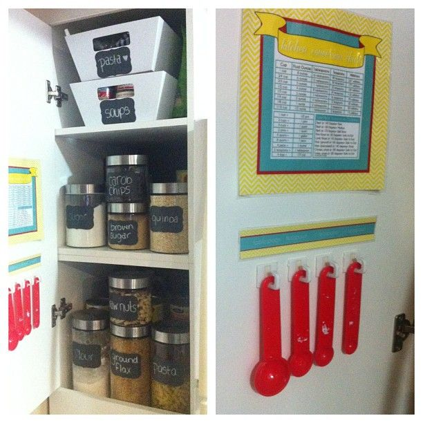 Dollar Store Kitchen Organization: Pantry Organization, Kitchen