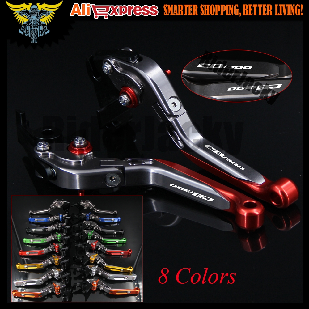 (33.59$)  Watch now - http://aimcs.worlditems.win/all/product.php?id=32801999875 - Laser Logo CB1300 Red &Titanium CNC Folding Extendable Motorcycle Brake Clutch Levers For HONDA CB1300 2008 2009 2010 2011 2012