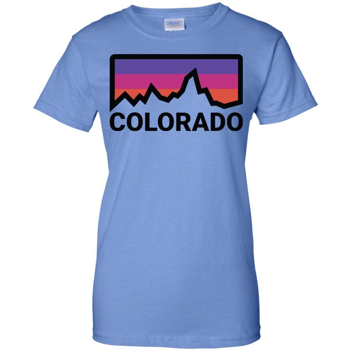 HIKING COLORADO Ladies Custom 100% Cotton T-Shirt