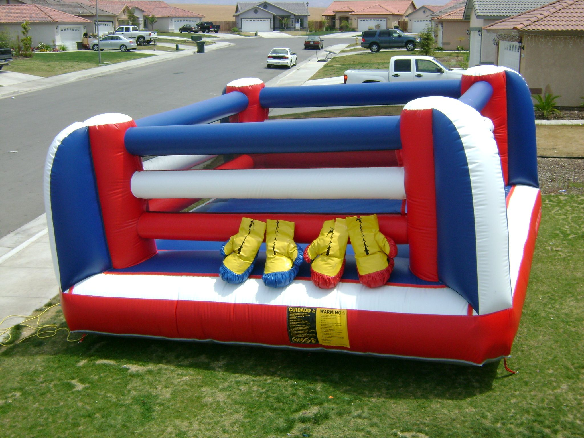 Boxing Ring Jumper Bad Idea Birthday Surprise Party Wwe Birthday Party Sports Themed Party