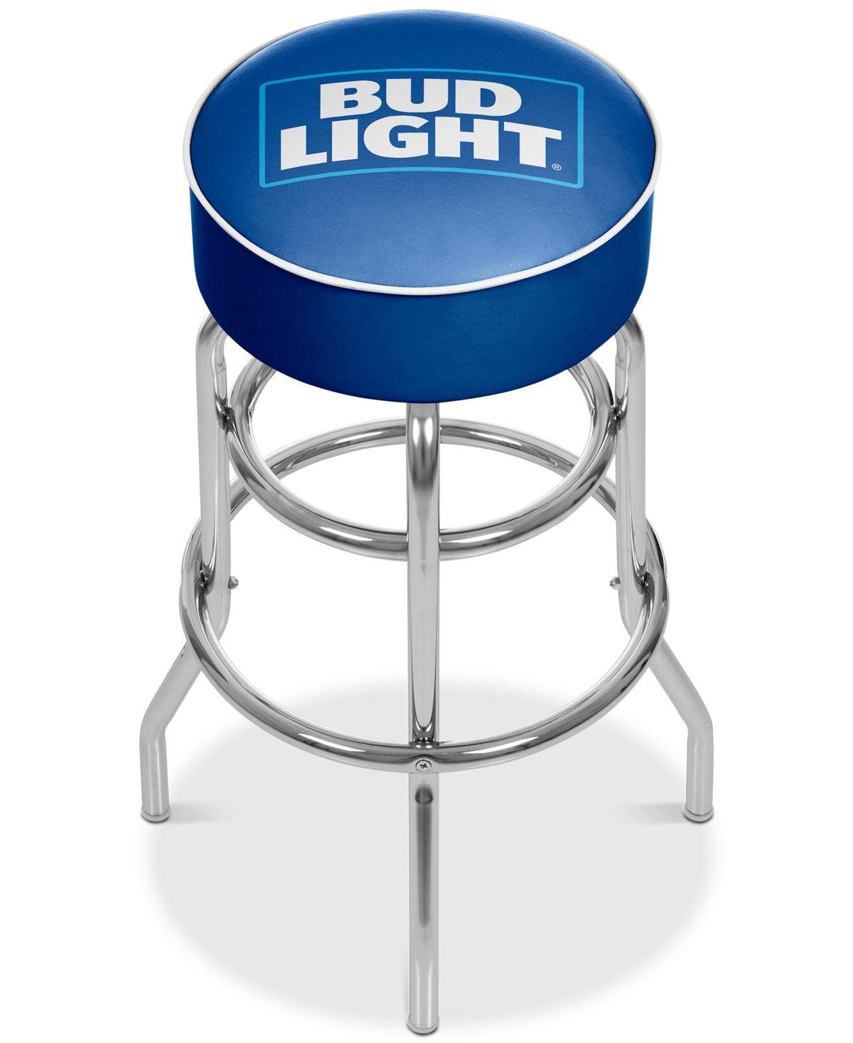 Bud Light Blue Bar Stool Medium Blue Chrome Bar Stools Swivel Bar Stools