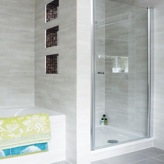 Modern Pale Grey Bathroom