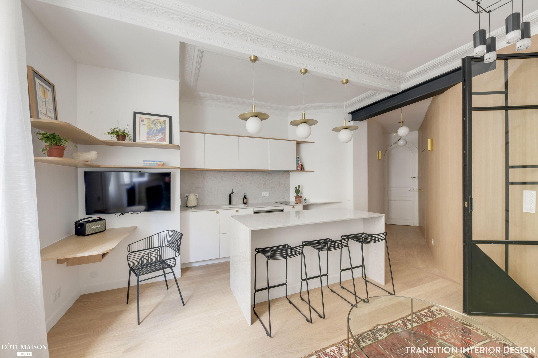 R novation compl te d 39 un appartement de 33m2 paris - Architecte interieur paris petite surface ...