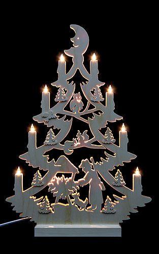 Müller Weihnachtsdeko.Lichterspitze Tannenbaum Beidseitig 47x34x5 5 Cm Sabloane 1