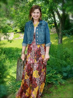 3e9d39910da Yes! Older women CAN wear maxi dresses and jean jackets.