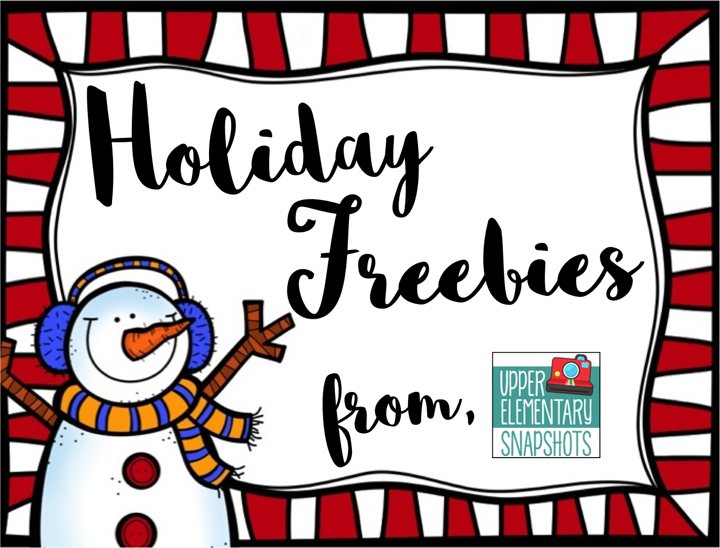 Holiday Freebies From Upper Elementary Snapshots